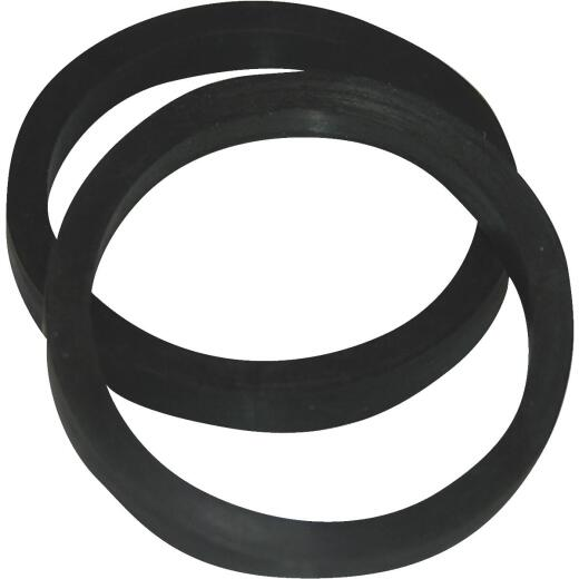 Lasco 1-1/4 In. Black Rubber Slip Joint Washer (2 Pack)