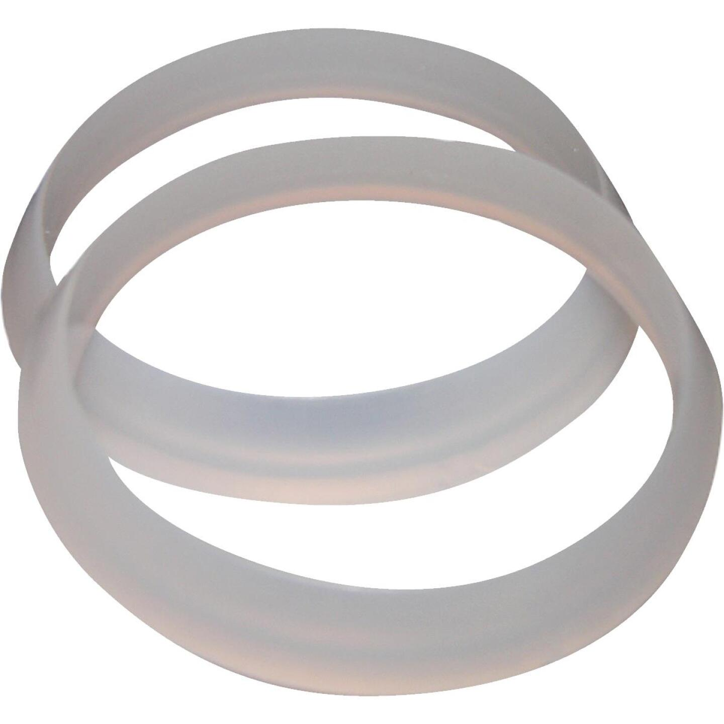 Lasco 1-1/4 In. White Plastic/Poly Slip Joint Washer (2 Pack) Image 1