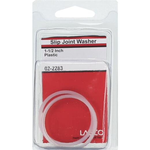Lasco 1-1/2 In. White Plastic/Poly Slip Joint Washer (2 Pack)