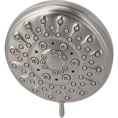 Moen Banbury 5-Spray 2.0 GPM Fixed Showerhead, Brushed Nickel