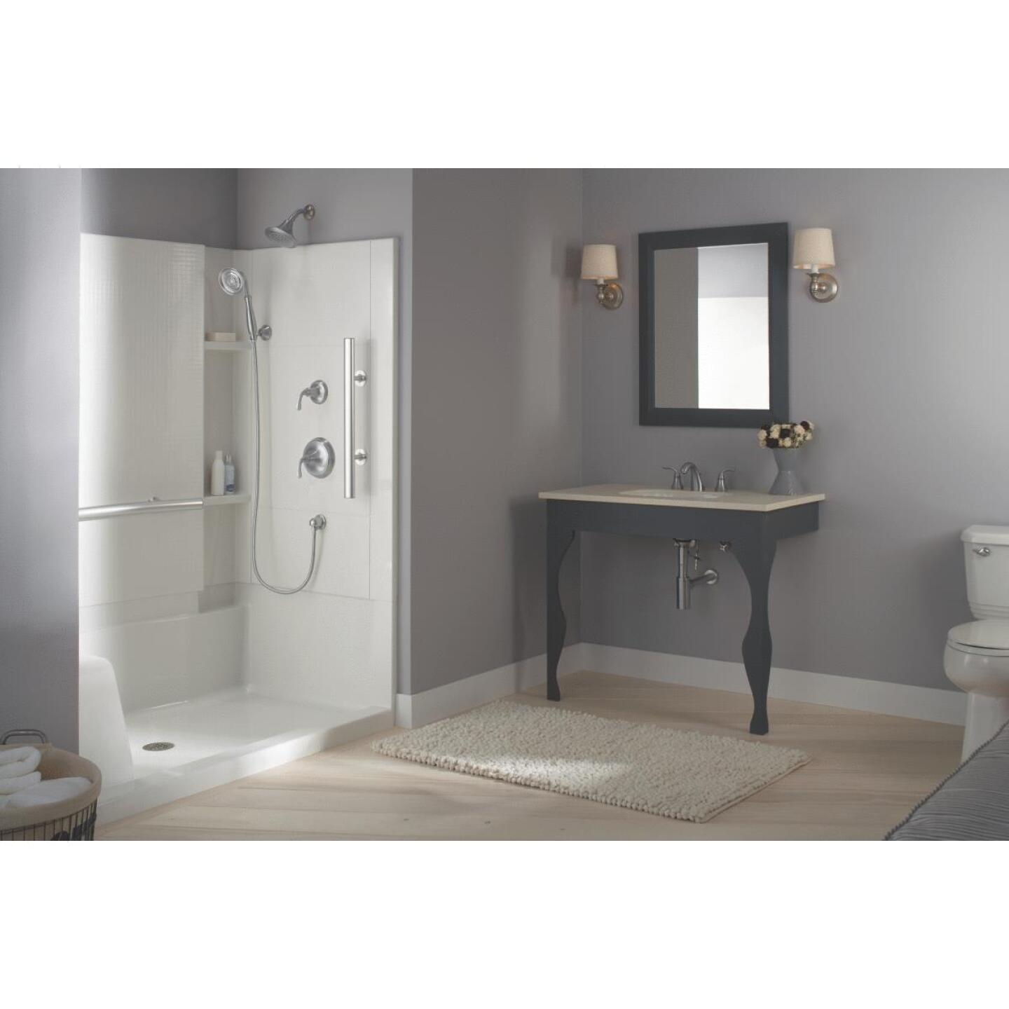 Sterling 3-Piece 36 In. W. x 55-1/8 In. H. x 48 In. L. White Shower Wall Set Image 2
