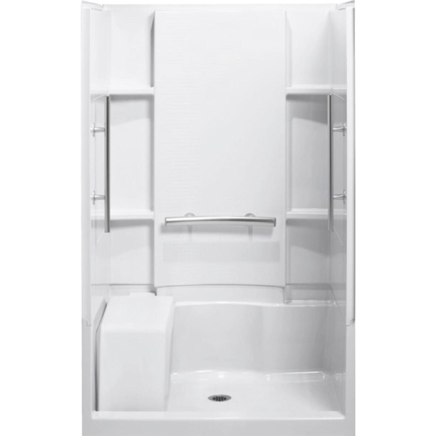 Sterling 3-Piece 36 In. W. x 55-1/8 In. H. x 48 In. L. White Shower Wall Set Image 1
