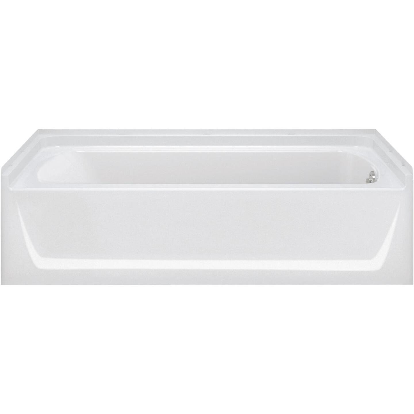 Sterling Ensemble 7117 Series 60 In. L x 30-1/4 In. W x 16 In. D Right Drain Bathtub in White Image 1
