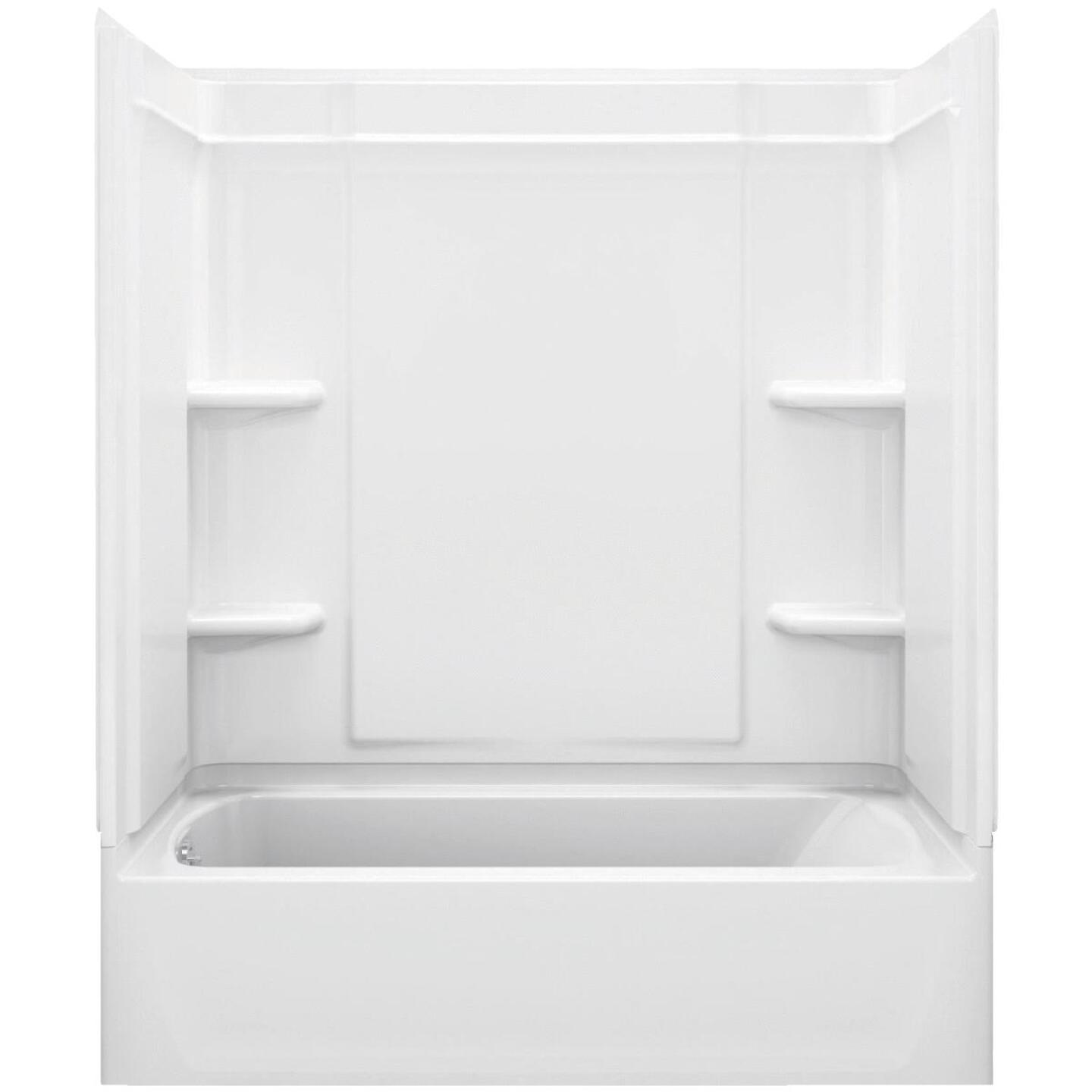Sterling Medley 3-Piece 60 In. L x 30 In. W x 73 In. H Tub Wall Kit in White Image 1