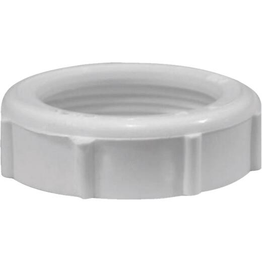 Jones Stephens 1-1/4 In. White Plastic Slip Joint Nut (100 Pack)