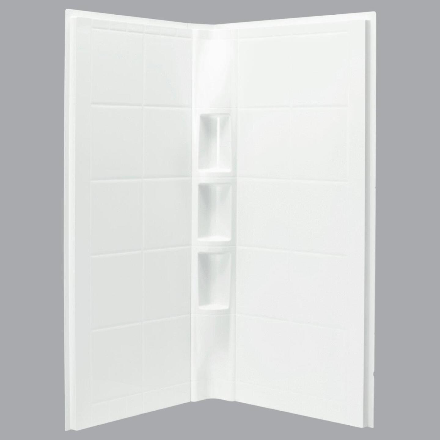 Sterling 2-Piece 39 In. W. x 79-1/8 In. H. x 39 In. D. White Shower Wall Set Image 1
