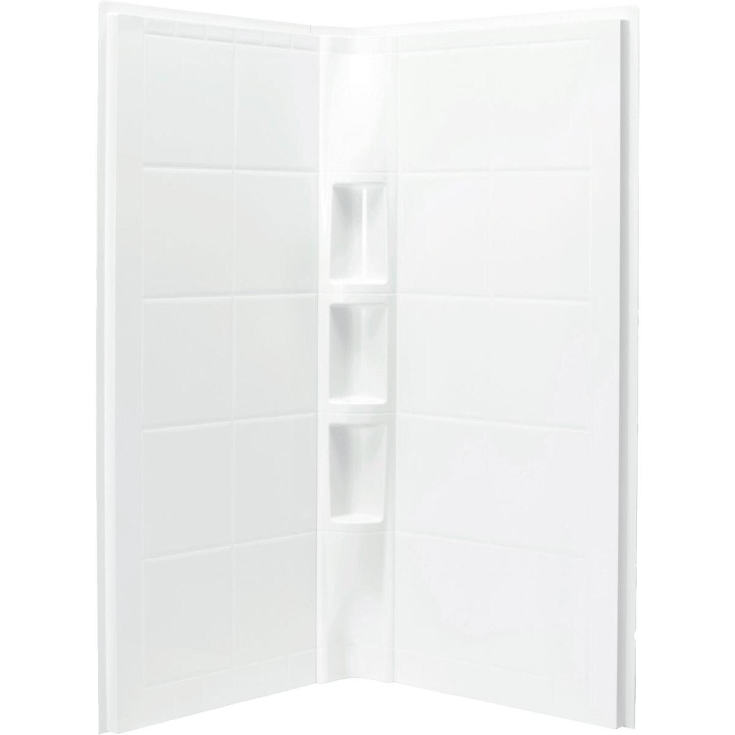 Sterling 2-Piece 39 In. W. x 79-1/8 In. H. x 39 In. D. White Shower Wall Set Image 2