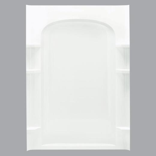 Sterling 48 In. W x 75-3/4 In. H White Vikrell Shower Back Wall