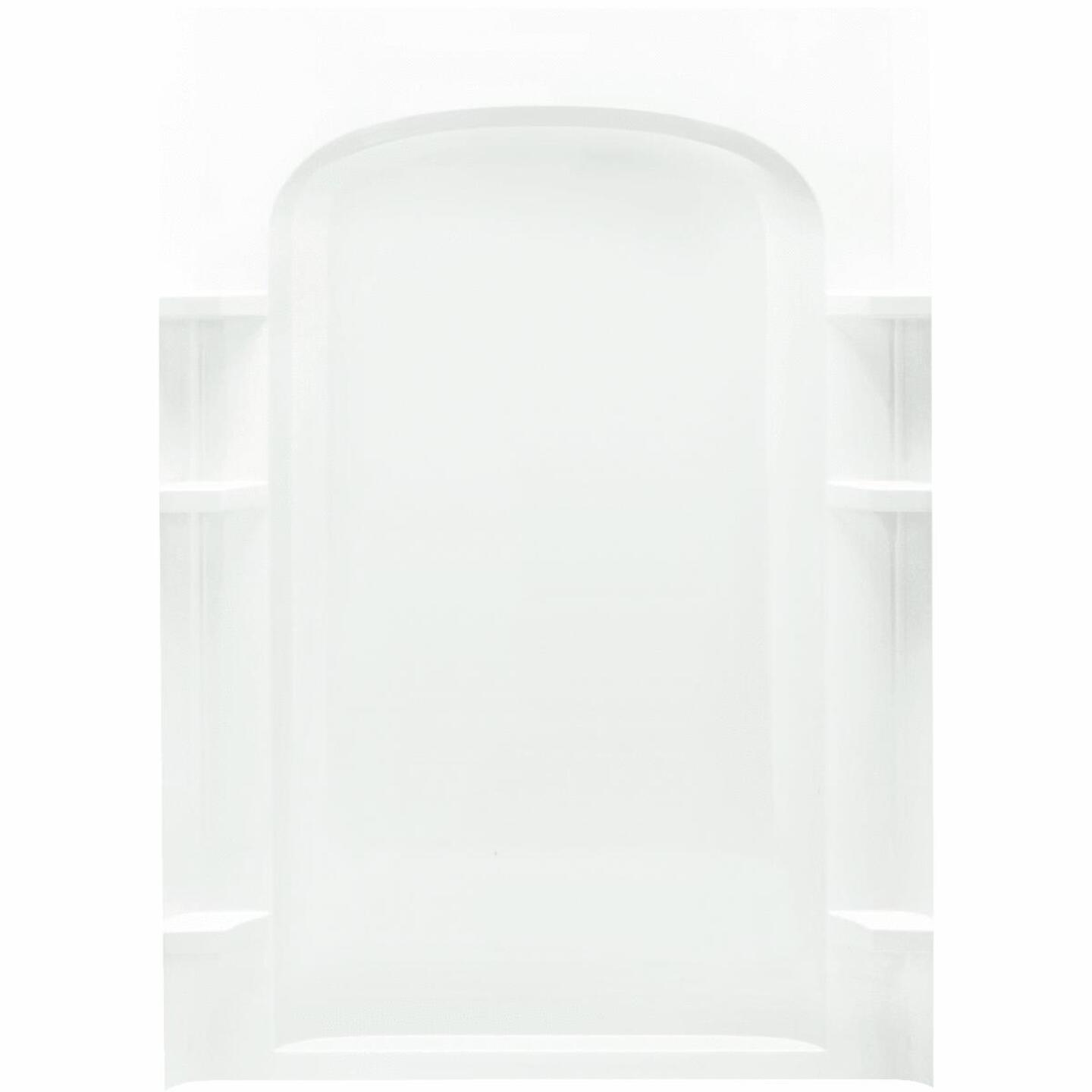 Sterling 48 In. W x 75-3/4 In. H White Vikrell Shower Back Wall Image 2