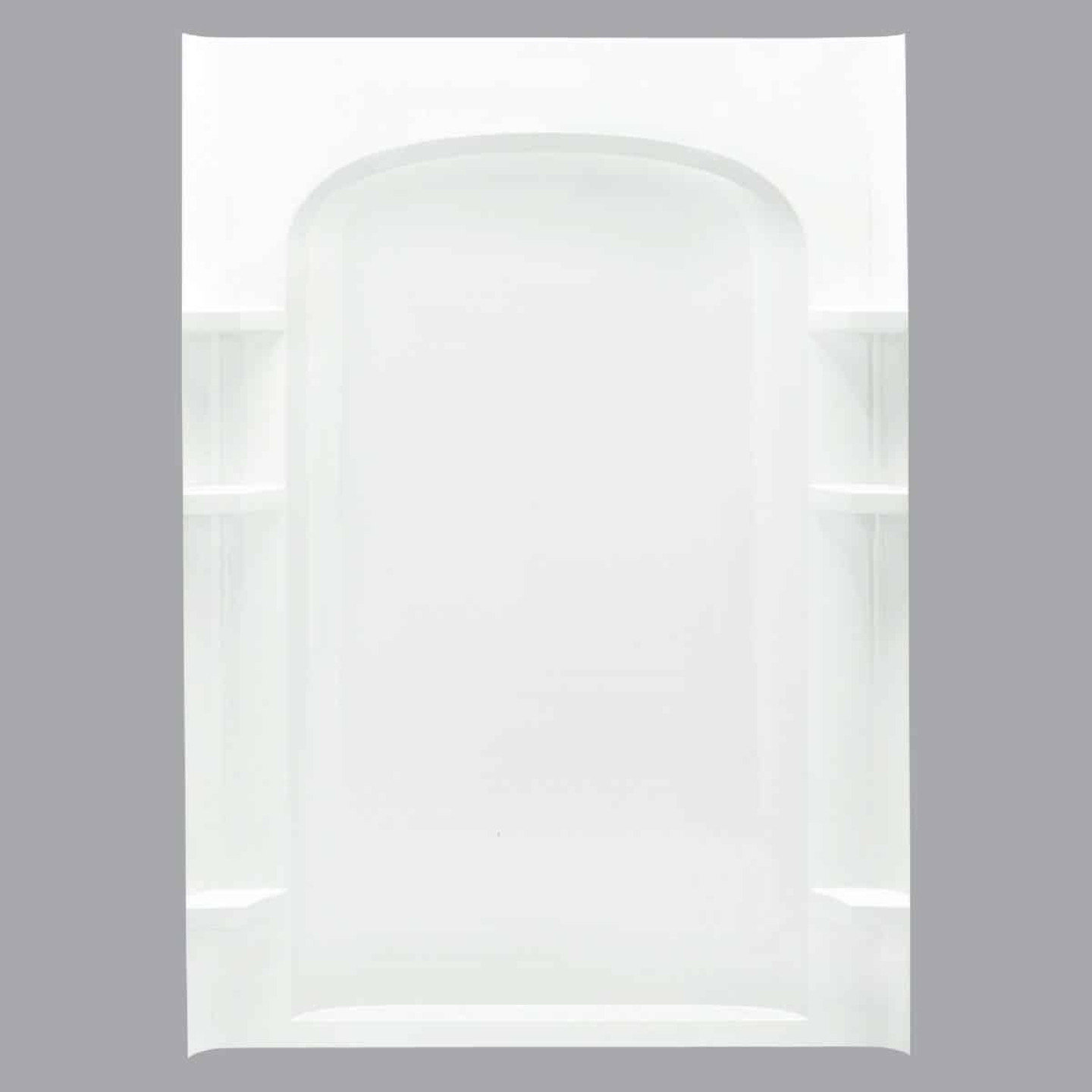Sterling 48 In. W x 75-3/4 In. H White Vikrell Shower Back Wall Image 1