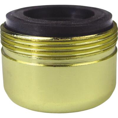 Lasco 1.8 GPM 55/64 In. Male Dual Thread Aerator, Polished Brass