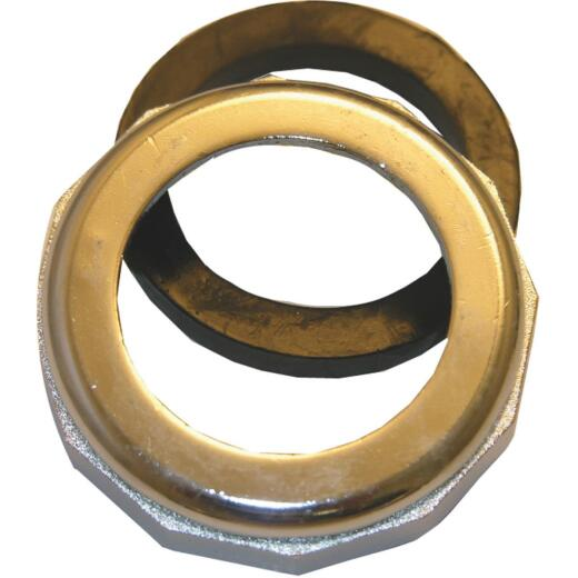 Lasco 1-1/2 In. x 1-1/4 In. Chrome Plated Slip Joint Nut and Washer