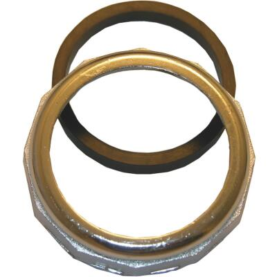 Lasco 1-1/2 In. x 1-1/2 In. Chrome Plated Slip Joint Nut and Washer