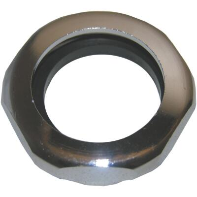 Lasco 1-1/4 In. x 1-1/4 In. Chrome Plated Slip Joint Nut and Washer