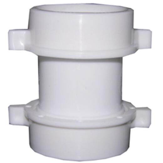 Lasco 1-1/2 In. x 1-1/2 In. Straight Double Slip Joint Extension PVC Coupling