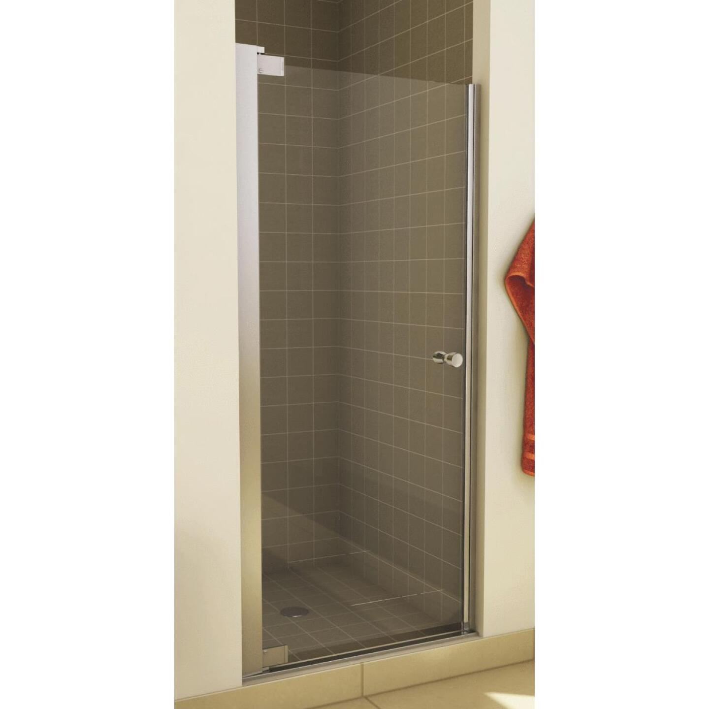 Maax Madono 33.5 In. W. X 67 In. H. Chrome Clear Glass Pivot Shower Door Image 1