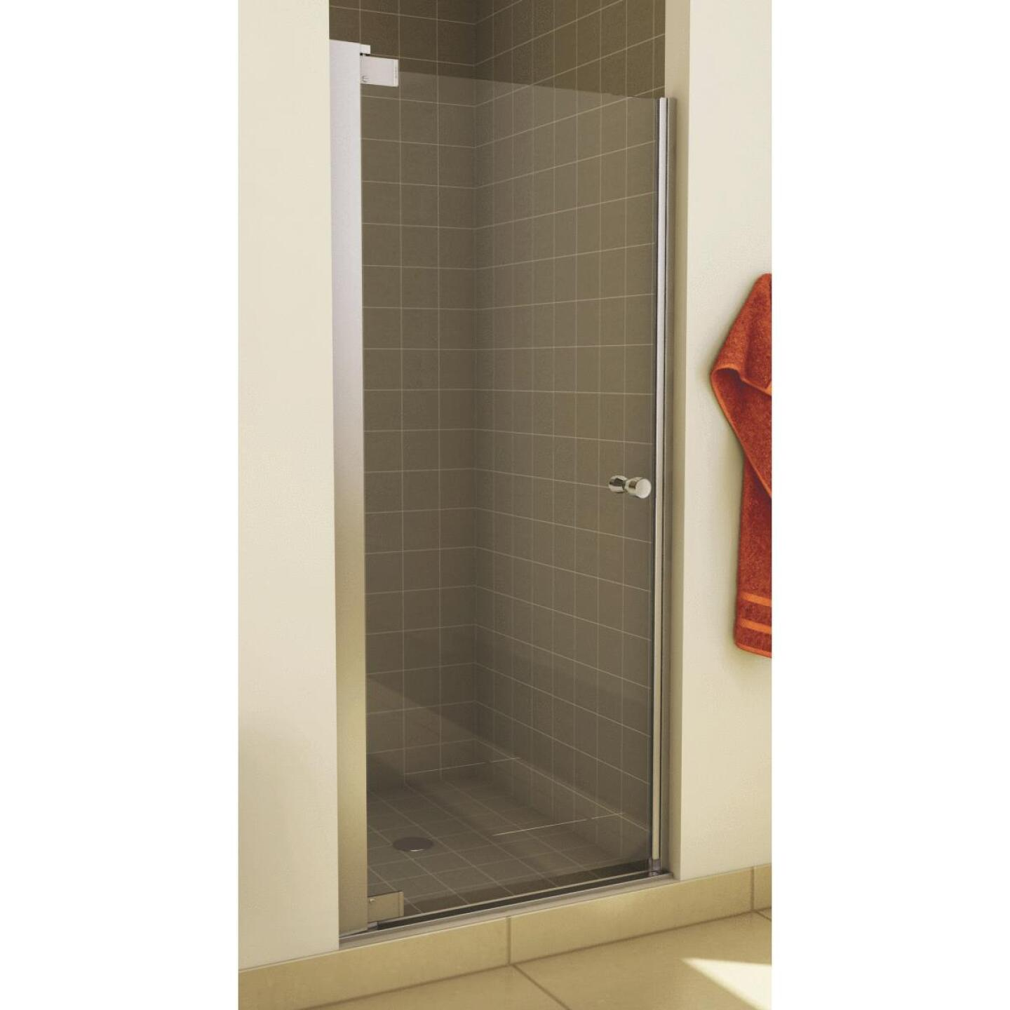 Maax Madono 36.5 In. W. X 67 In. H. Chrome Clear Glass Pivot Shower Door Image 1