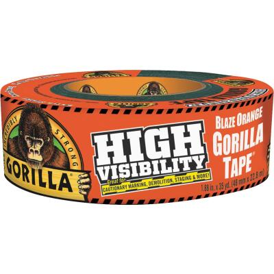 Gorilla 1.88 In. x 35 Yd. Heavy-Duty Duct Tape, High Visibility Orange