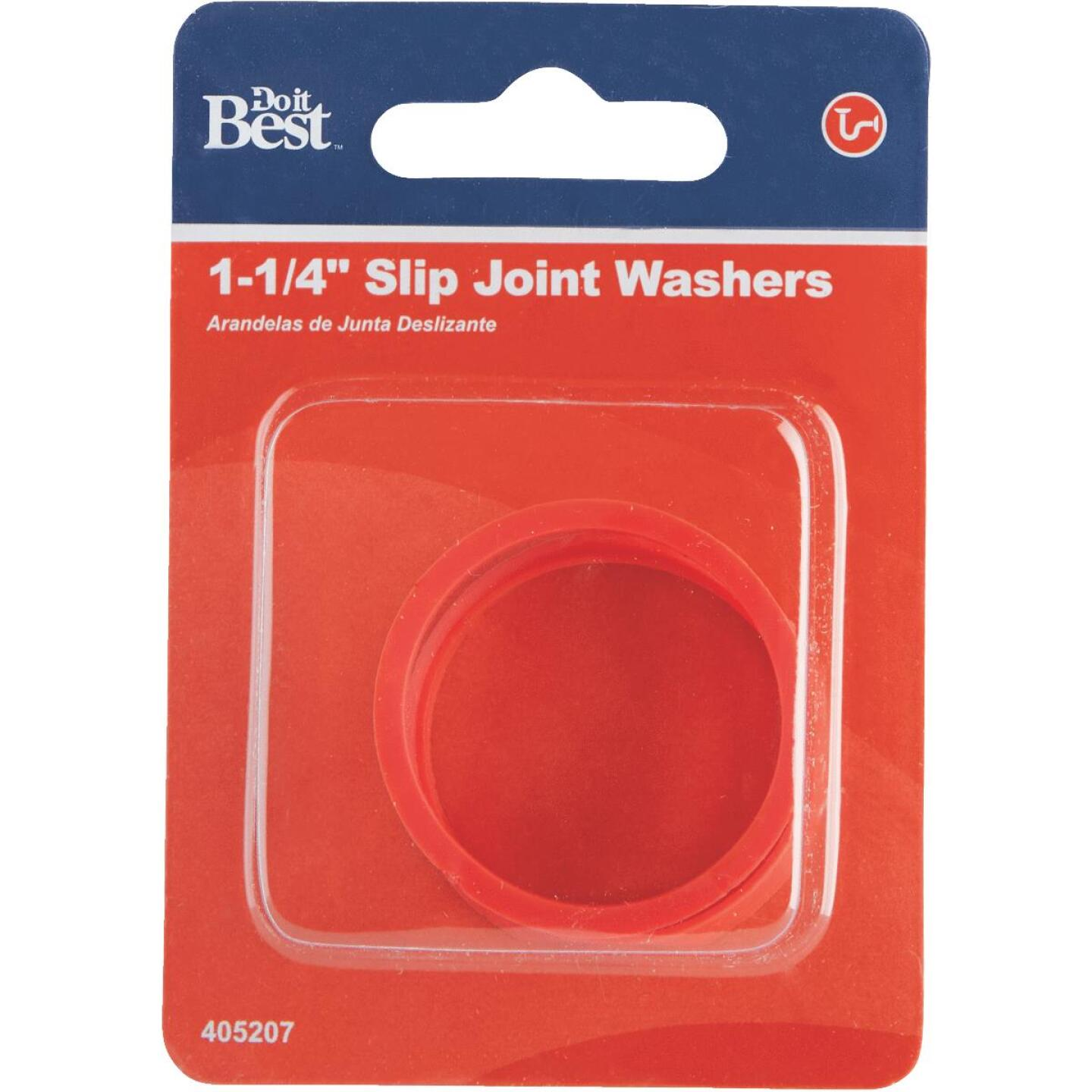 Do it 1-1/4 In. x 1-1/4 In. Black Rubber Slip Joint Washer (2 Pack) Image 2