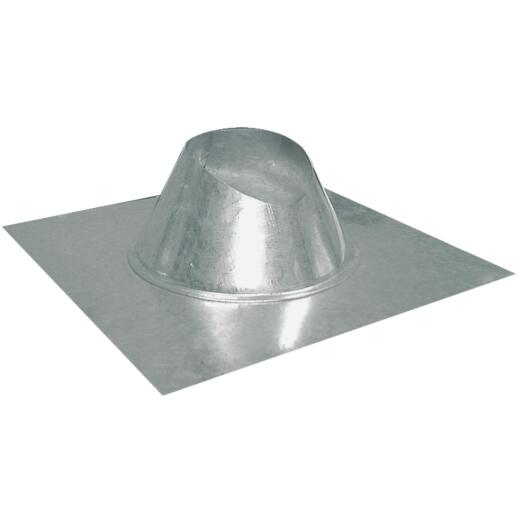 Imperial 5 In. Galvanized Rainproof Roof Pipe Flashing