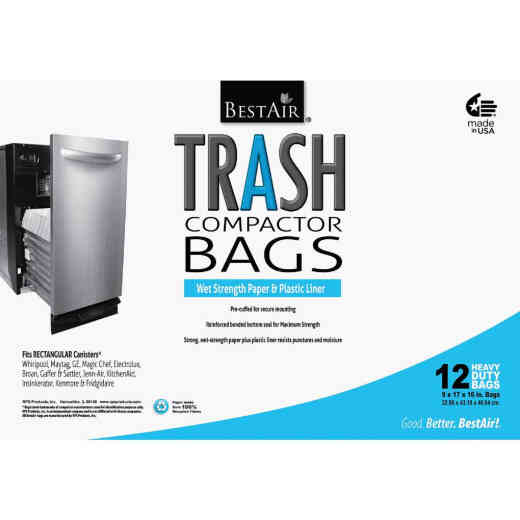BestAir 1.4 Cu. Ft. White Compactor Trash Bag (12-Count)
