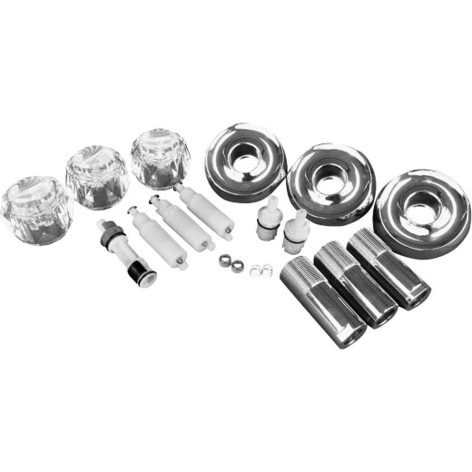 Danco Delta Chrome Remodeling Tub & Shower Trim Kit, 3-Handle