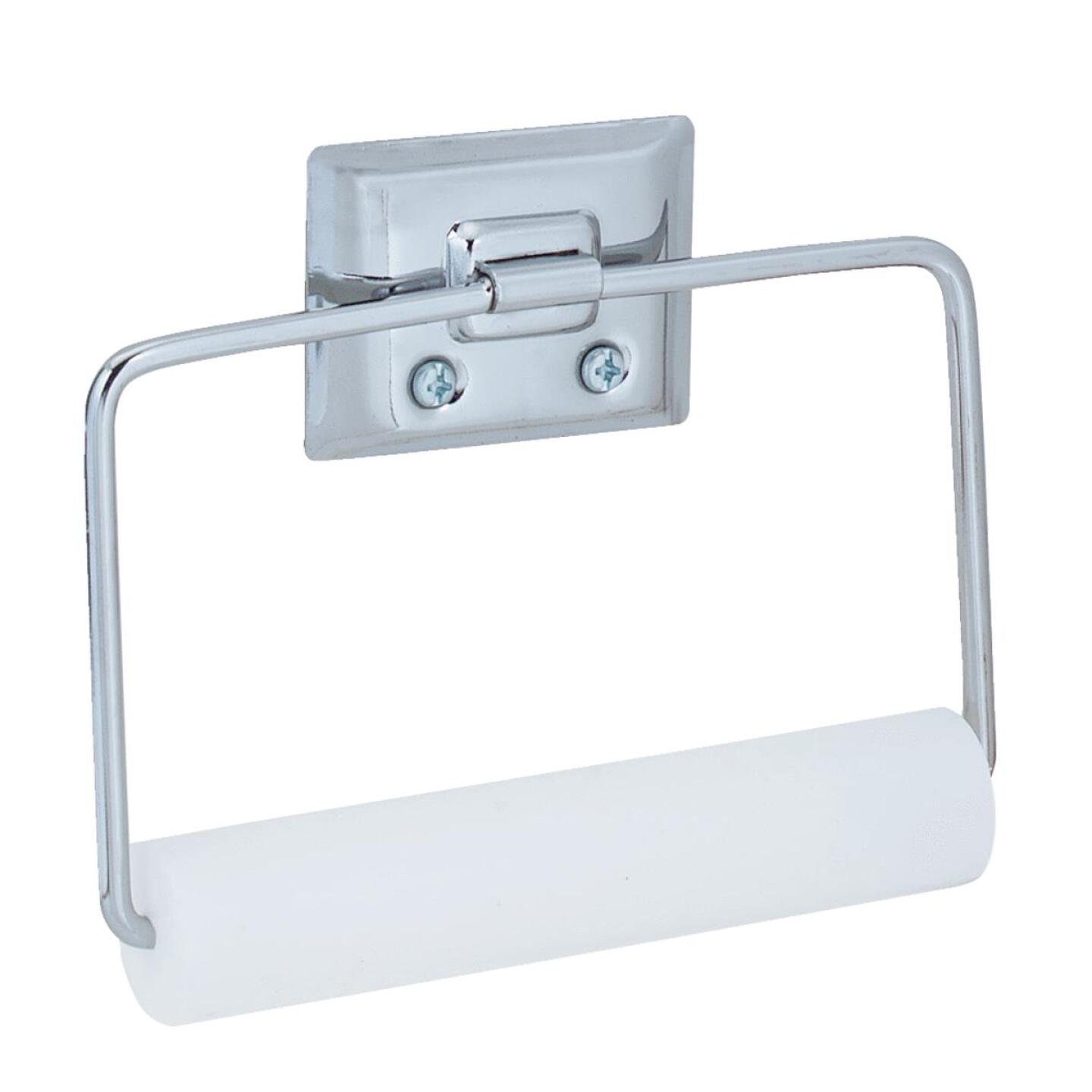 Decko Chrome Swing Type Wall Mount Toilet Paper Holder Image 1