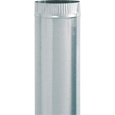 Imperial 24 Ga. 7 In. x 24 In. Galvanized Furnace Pipe