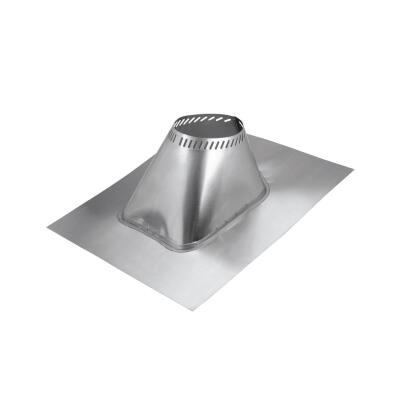 SELKIRK 8 In. Aluminum Adjustable Roof Pipe Flashing, 2/12 to 6/12 Roof Pitch