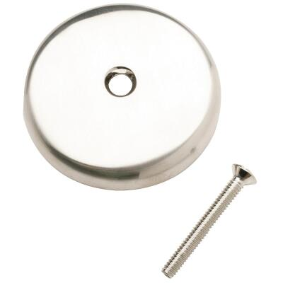 Do it One-Hole Brushed Nickel Bath Drain Face Plate