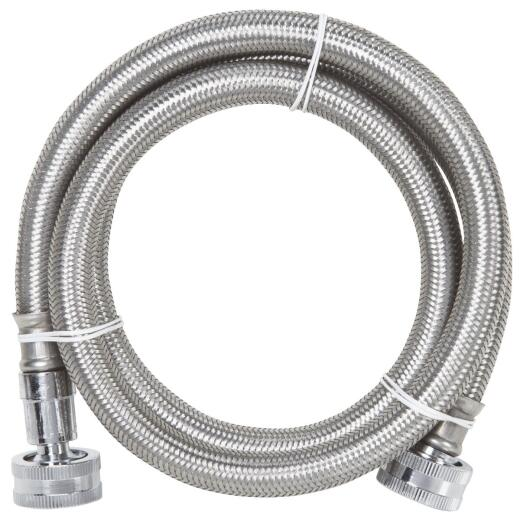 SureDry 4 Ft. Flexible Stainless Steel 125 psi Washing Machine Hose