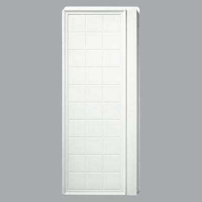 Sterling Ensemble 75-3/4 In. H x 36 In. D Tile Shower End Wall in White