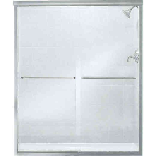 Sterling Finesse 59-5/8 In. W. X 70-5/16 In. H. Chrome Frameless Clear Sliding Shower Door