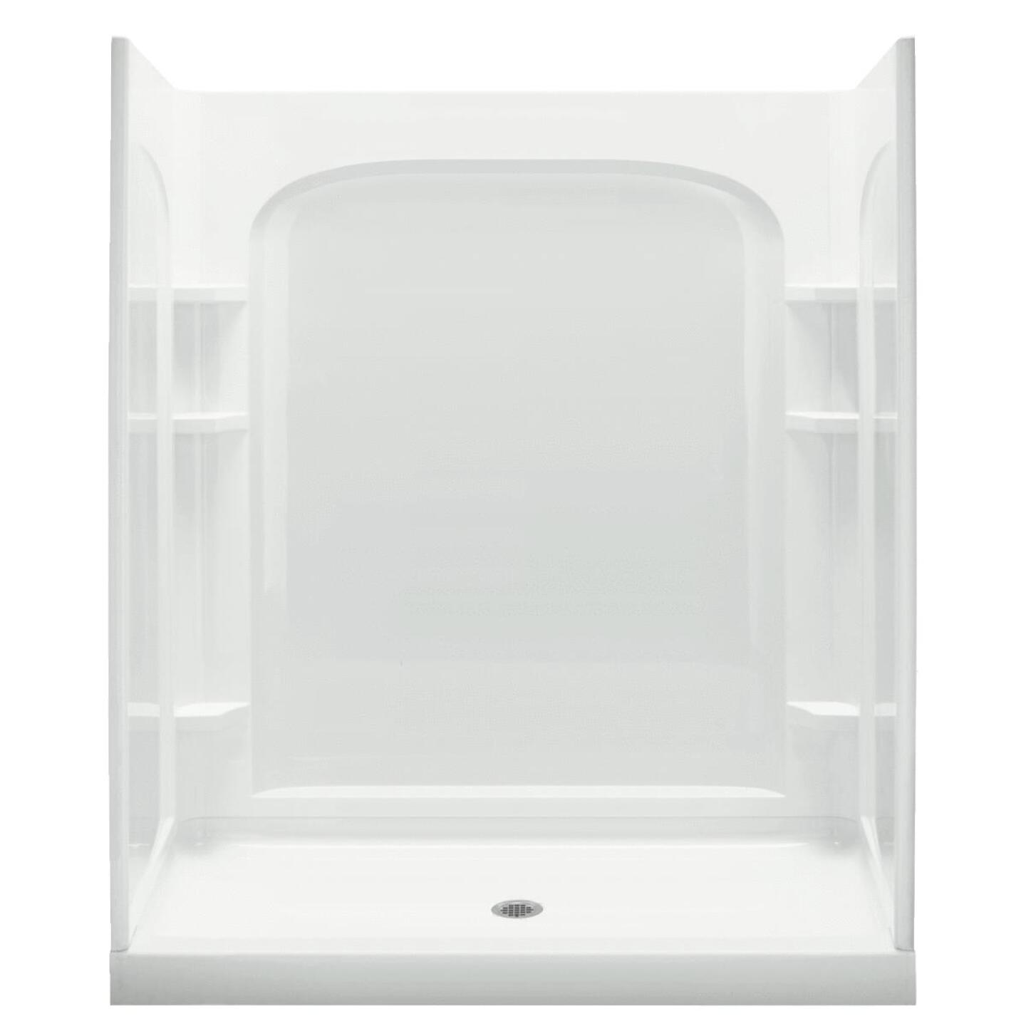 Sterling 60 In. W x 72-1/2 In. H White Vikrell Shower Back Wall Image 3