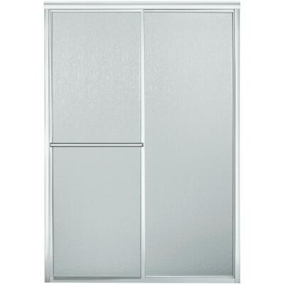 Sterling Advantage Series 46 In. W. X 65-1/2 In. H. Chrome Deluxe Sliding Shower Doors For Seated Showers