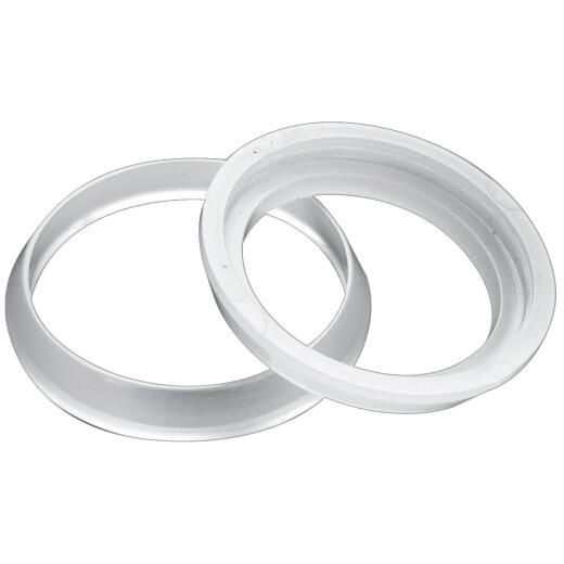 Do it 1-1/2 In. x 1-1/4 In. Clear Poly Slip Joint Washers (2 Pack)