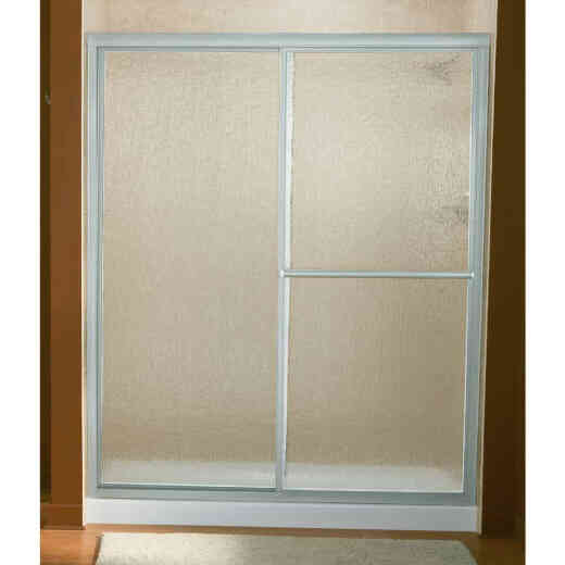Sterling Deluxe 59-3/8 In. W. X 70 In H. Chrome Rain Glass Sliding Shower Door