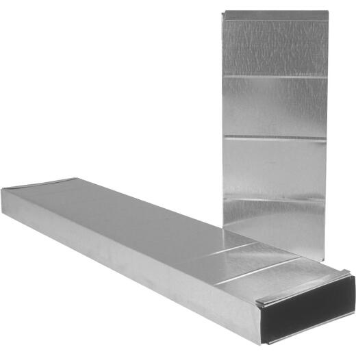 Imperial 30 Ga. 3-1/4 In. x 12 In. x 24 In. Galvanized Stack Duct