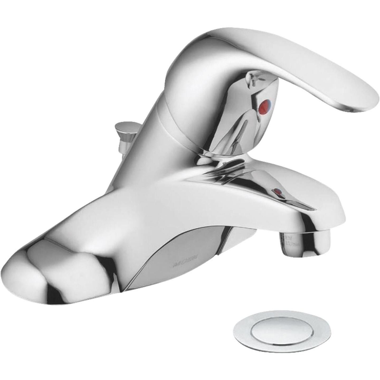 Moen Adler Chrome 1-Handle Lever 4 In. Centerset Bathroom Faucet with Pop-Up Image 3