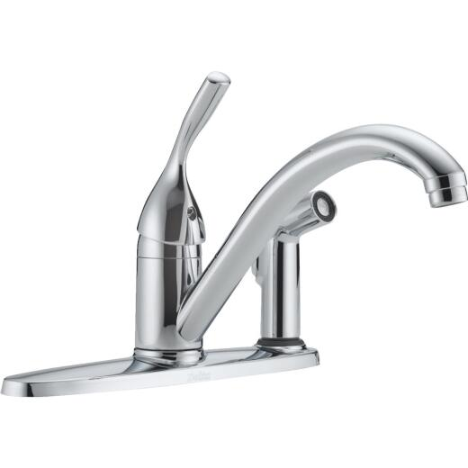 Delta Classic Series Single Handle Lever Kitchen Faucet with Side Spray, Chrome