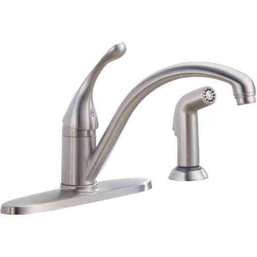 Delta Single Handle Lever Kitchen Faucet with Side Spray, Stainless