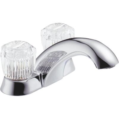 Delta Classic Chrome 2-Handle Knob 4 In. Centerset Bathroom Faucet