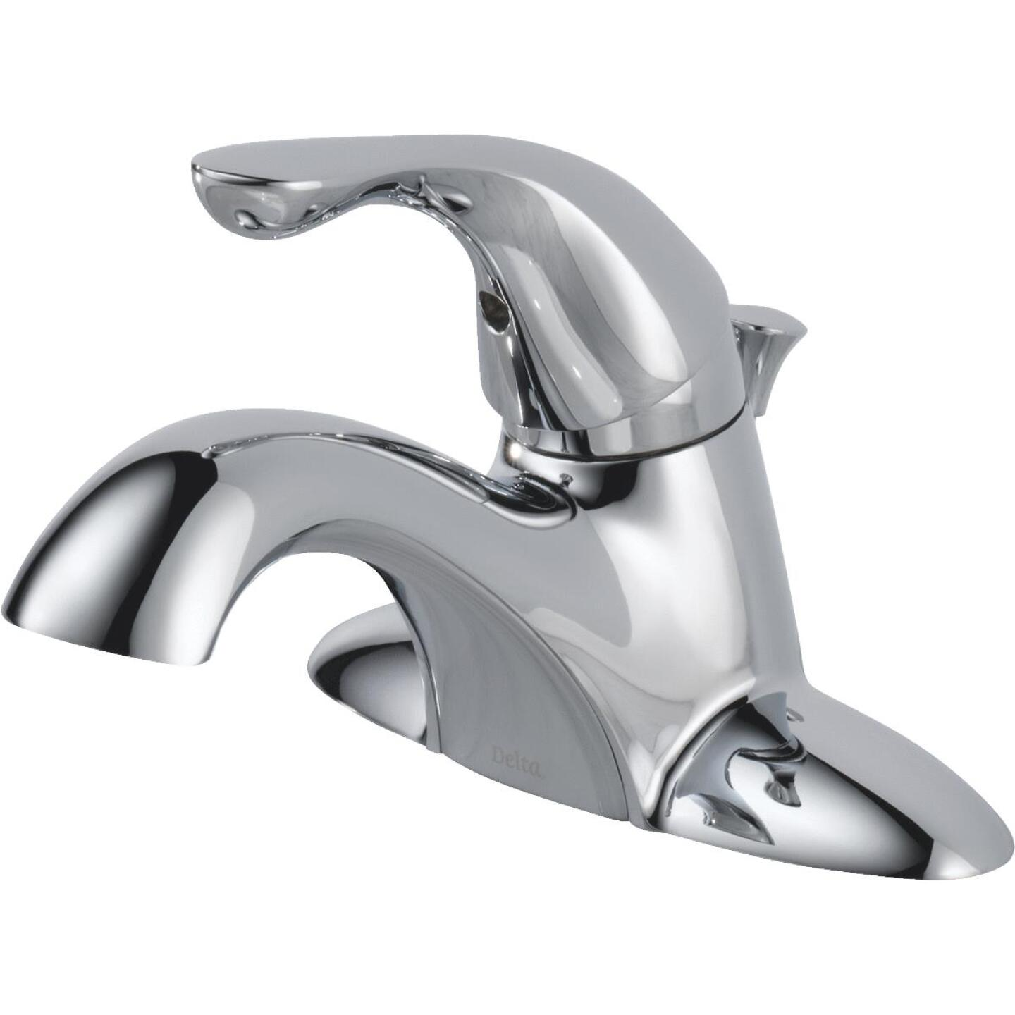 Delta Classic Chrome 1-Handle Lever 4 In. Centerset Bathroom Faucet with Pop-Up Image 3