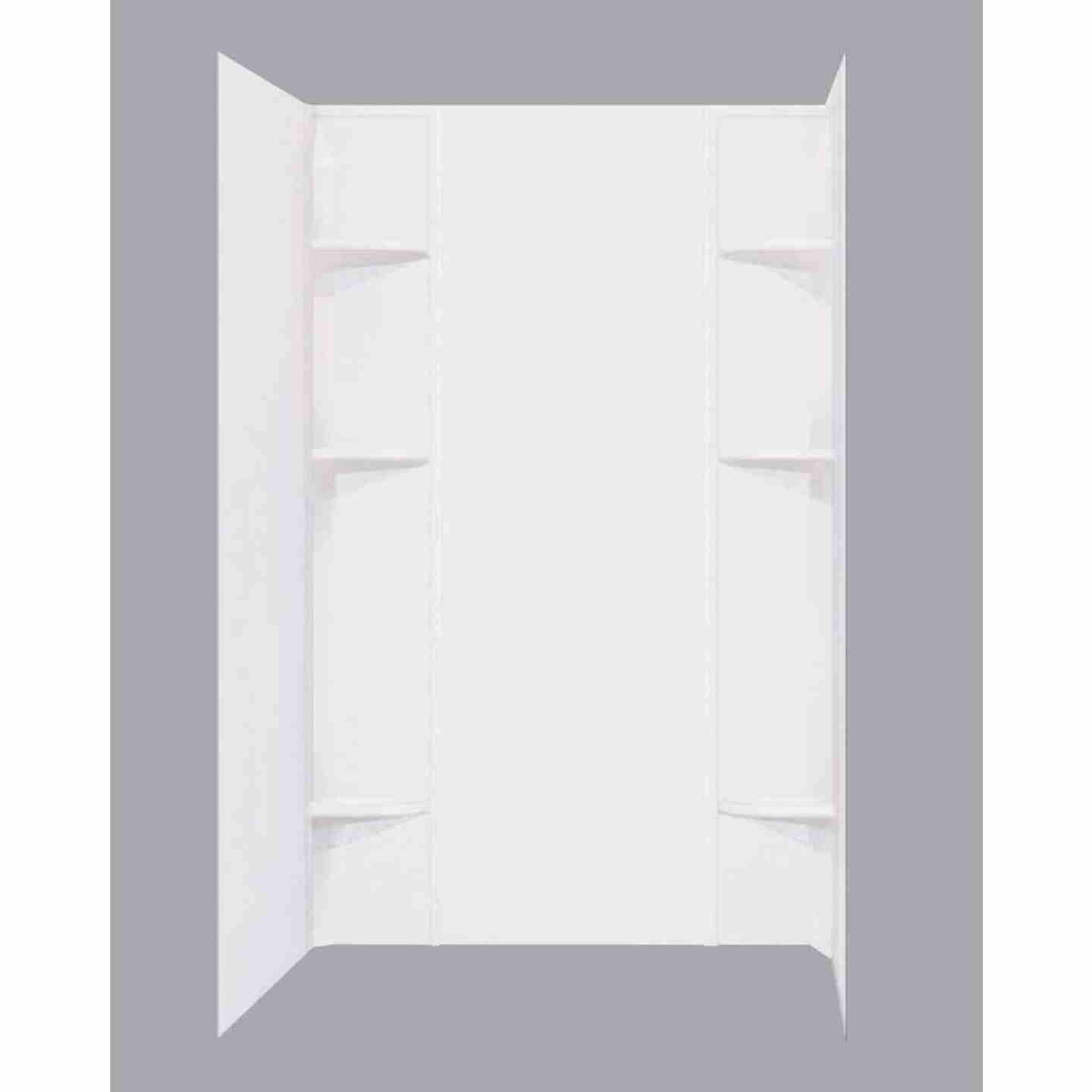 Mustee Durawall Model 260 5-Piece 60 In. W x 40 In. D Shower Wall Set in White Image 1