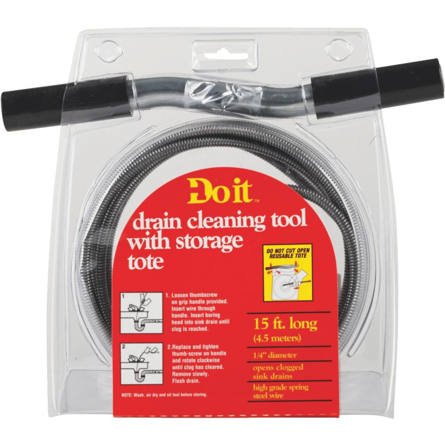 Do it 1/4 In. x 15 Ft. Galvanized Steel Wire Cleanout Drain Auger Image 1
