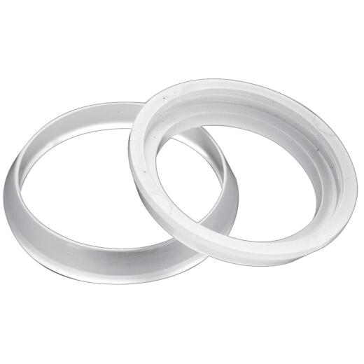 Do it 1-1/4 In. x 1-1/2 In. Clear Poly Slip Joint Washer (2 Pack)