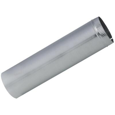 Imperial 28 Ga. 7 In. x 24 In. Galvanized Furnace Pipe