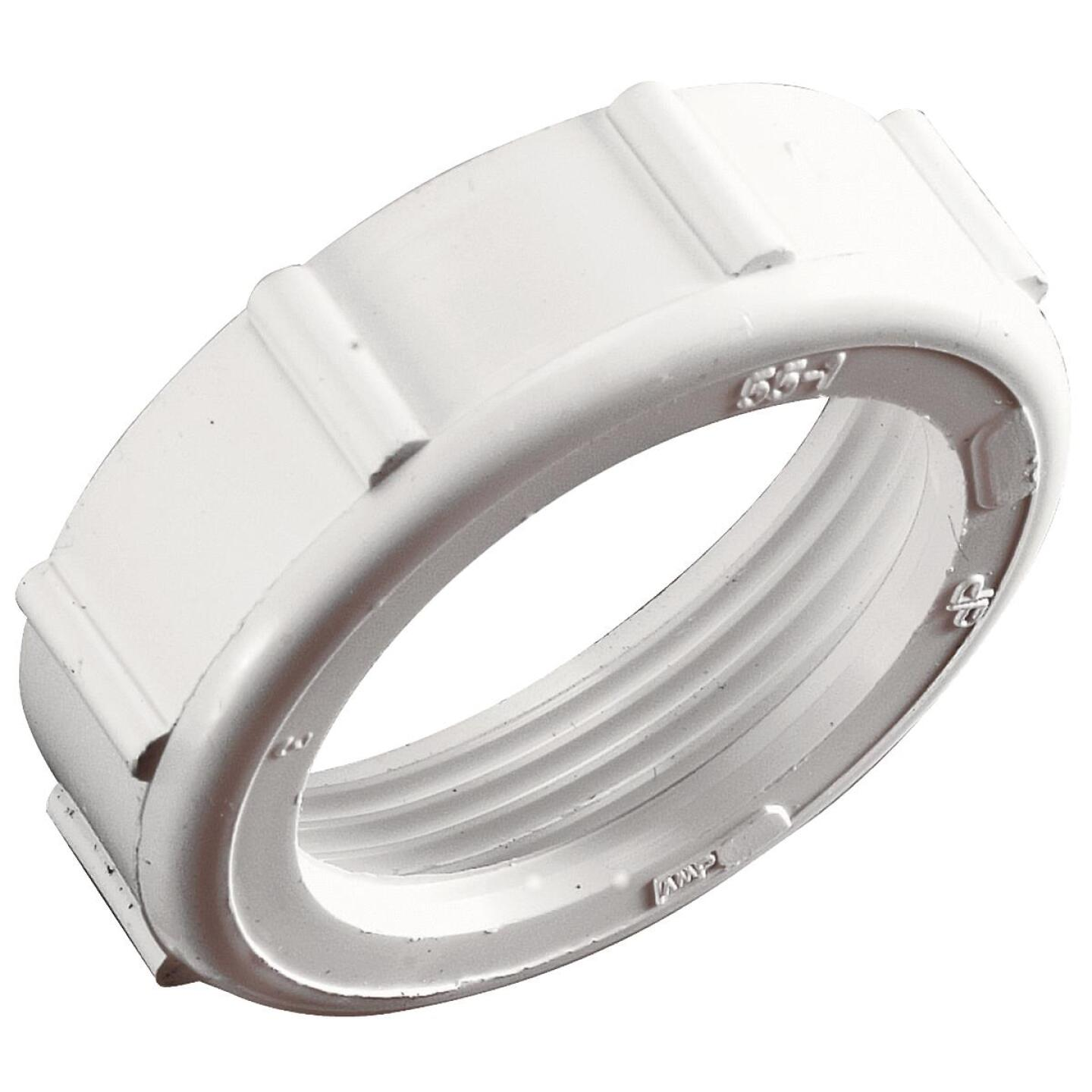 Do it 1-1/2 In. x 1-1/2 In. White Plastic Slip Joint Nut and Washer Image 2