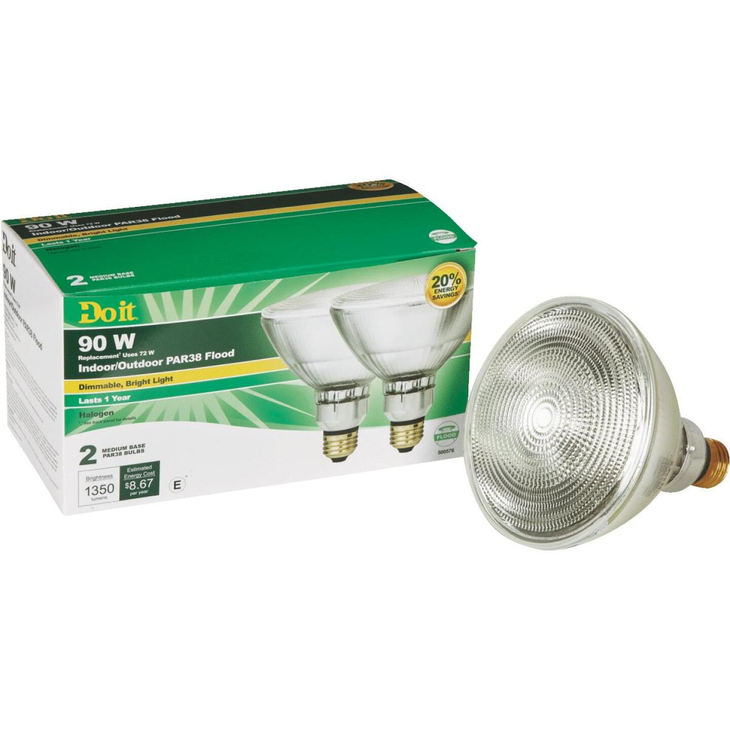 Do it 90W Equivalent Clear Medium Base PAR38 Halogen Floodlight Light Bulb (2-Pack) Image 1