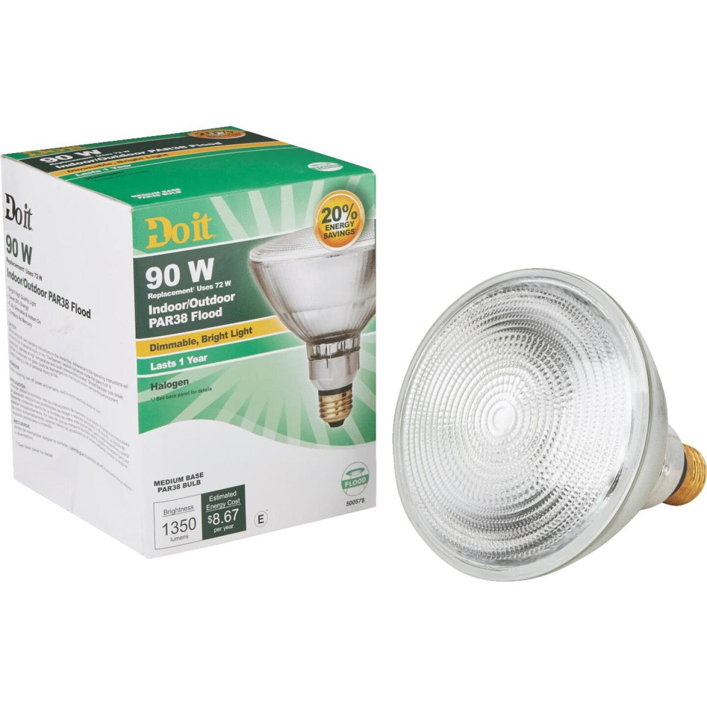 Do it 90W Equivalent Clear Medium Base PAR38 Halogen Floodlight Light Bulb Image 1